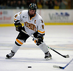 6 January 2007: University of Vermont defenseman and co-captain Kenny Macaulay (6) from Baddeck, NS, in action against the University of New Hampshire Wildcats at Gutterson Fieldhouse in Burlington, Vermont. The Wildcats defeated Vermont 2-1 to sweep the two-game weekend series in front of a record setting 49th consecutive sellout at the Gut...Mandatory Photo Credit: Ed Wolfstein Photo.<br />