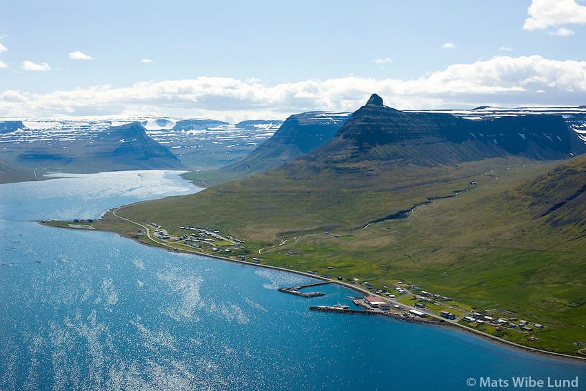 Súðavík, Alftafjörður til suðurs, Súðavíkurhreppur / Sudavik , Alftafjordur viewing south, Alftafjordur. Sudavikurhreppur.