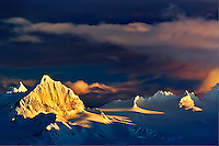 Kenai Mountains at sunset, from Homer, Alaska