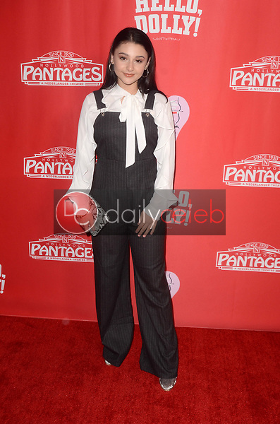 Issie Swixkle<br /> at the Hello Dolly! Los Angeles Premiere, Pantages Theater, Hollywood, CA 01-30-19<br /> David Edwards/DailyCeleb.com 818-249-4998