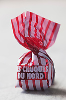 Europe/France/Nord-Pas-de-Calais/59/Nord/Wasquehal: Les Chuques du Nord , bonbon au café et fourré au caramel // France, Nord, Wasquehal, The North Chuqui, sweet coffee and filled with caramel