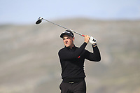 Lewys Sanges from Wales on the 4th tee during Round 2 Singles of the Men's Home Internationals 2018 at Conwy Golf Club, Conwy, Wales on Thursday 13th September 2018.<br /> Picture: Thos Caffrey / Golffile<br /> <br /> All photo usage must carry mandatory copyright credit (&copy; Golffile | Thos Caffrey)