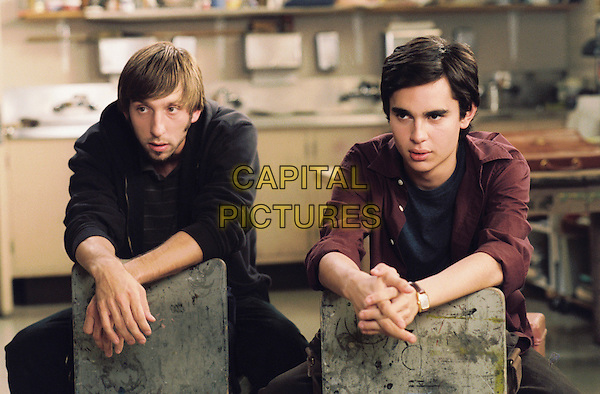 JOEL DAVID MOORE & MAX MINGHELLA.in Art School Confidential.*Editorial Use Only*.www.capitalpictures.com.sales@capitalpictures.com.Supplied by Capital Pictures.