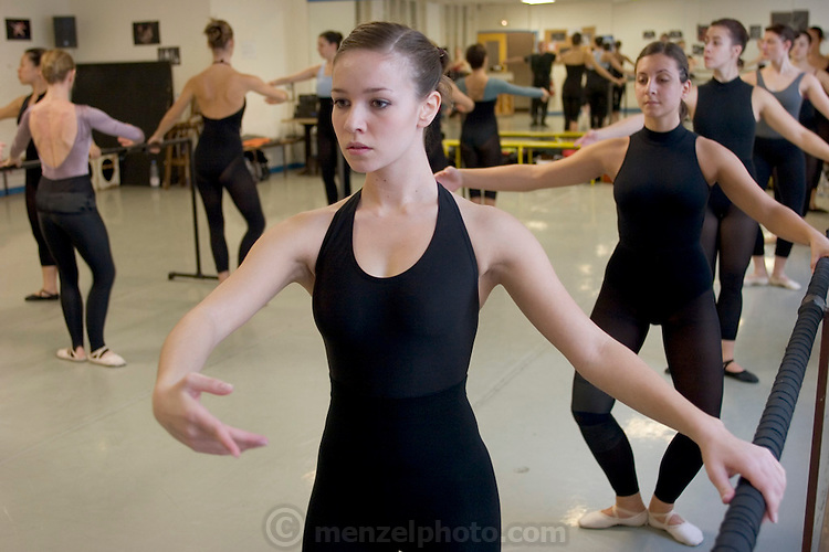 Delphine Le Moine, a dance student, in her ballet class at the Centre International de Danse Jazz Rick Odums. (Supporting image from the project Hungry Planet: What the World Eats.)