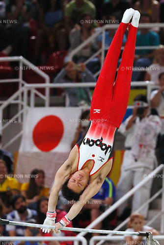 Yusuke Tanaka (JPN), <br /> AUGUST 8, 2016 - Artistic Gymnastics : <br /> Men's Final  <br /> Horizontal Bar   <br /> at Rio Olympic Arena <br /> during the Rio 2016 Olympic Games in Rio de Janeiro, Brazil. <br /> (Photo by Sho Tamura/AFLO SPORT)