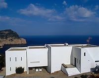 Bathed in light this new white building pays homage to the domestic architecture of the Balearics