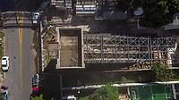 SÃO PAULO, SP, 23.03.2019: MONOTRILHO LINHA 17 OURO -SP- Vista aérea feitas de Drone, das obras do monotrilho da Linha 17 Ouro, após suspensão do contrato de construção, São Paulo, SP, sábado (23). (Foto: Marivaldo Oliveira/Código19)
