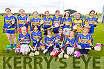Newly formed camogie club, Sliabh Luchra team at the Camogie Feile Finals in Abbeydorney on Sunday.