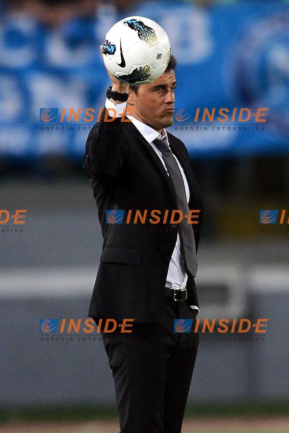 """Luis Enrique allenatore della Roma.Roma 28/4/2012 Stadio """"Olimpico"""".Football Calcio 2011/2012 Serie A.Roma Vs Napoli.Foto Insidefoto Andrea Staccioli"""