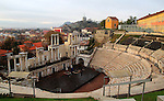 Roman amphitheatre in Plovdiv, Bulgaria, eastern Europe