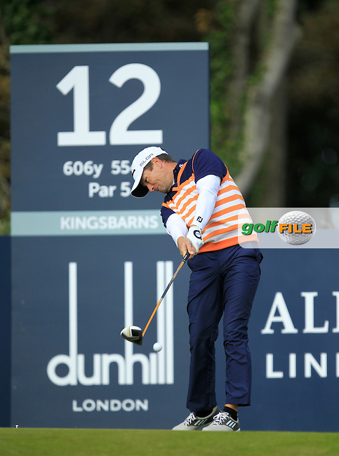 Steve Webster during Round 1of the Alfred Dunhill Links Championship at Kingsbarns Golf Club on Thursday 26th September 2013.<br /> Picture:  Thos Caffrey / www.golffile.ie