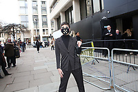 Face masks appear at London Fashion Week AW20 as coronavirus (COVID-19) fears hit numbers.<br />