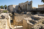 Archaeological excavations of ancient buildings in the Alcazar, Jerez de la Frontera, Spain