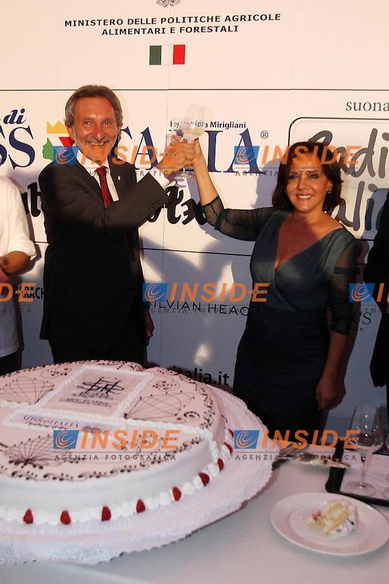 Patrizia Mirigliani e il sindaco di Montecatini Giuseppe Bellandi..Montecatini Terme 09/09/2012..Finali nazionali Miss Italia 2012..Foto Insidefoto Paolo Nucci..