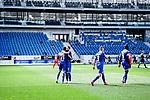Jubel ueber das 4:0: Torschuetze Christoph Baumgartner (Hoffenheim, l.) mit Ermin Bicakcic (Hoffenheim, r.).<br /> <br /> Sport: Fussball: 1. Bundesliga: Saison 19/20: 33. Spieltag: TSG 1899 Hoffenheim - 1. FC Union Berlin, 20.06.2020<br /> <br /> Foto: Markus Gilliar/GES/POOL/PIX-Sportfotos<br /> <br /> Foto © PIX-Sportfotos *** Foto ist honorarpflichtig! *** Auf Anfrage in hoeherer Qualitaet/Aufloesung. Belegexemplar erbeten. Veroeffentlichung ausschliesslich fuer journalistisch-publizistische Zwecke. For editorial use only. DFL regulations prohibit any use of photographs as image sequences and/or quasi-video.