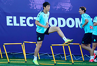 18th may 2020; Barcelona, Spain;  Wu Lei L of RCD Espanyol attends a training session in Barcelona, Spain, May 18, 2020. The return of football to Spain moved a step closer on Monday as the teams in Spain s Liga Santander and Liga SmartBank first and second divisions are able to train in groups of up to 10 players.
