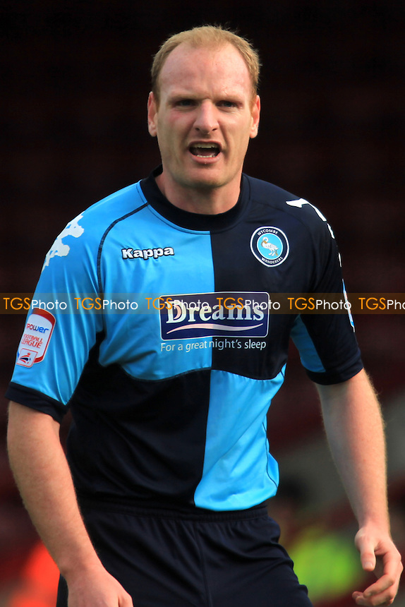 Wycombe's Gary Doherty, currently on loan from Charlton - Scunthorpe United vs Wycombe Wanderers - nPower League One Football at Glanford Park - 03/03/12 - MANDATORY CREDIT: Paul Dennis/TGSPHOTO - Self billing applies where appropriate - 0845 094 6026 - contact@tgsphoto.co.uk - NO UNPAID USE.