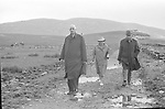 President Charles De Gaulle  and his wife, Yvonne, with of France François Flohic, right, on a visit to Sneem in County Kerry in 1969.<br /> Photros copyright by Donal MacMonagle<br /> www.macmonagle.com<br /> <br /> e: info@macmonagle.com