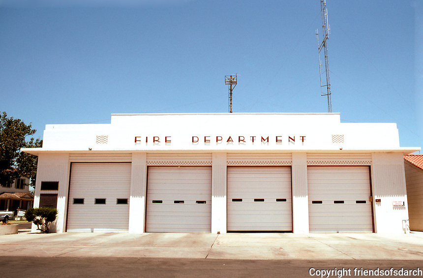 Porterville CA: Fire Department,1937. W.D. Coates.