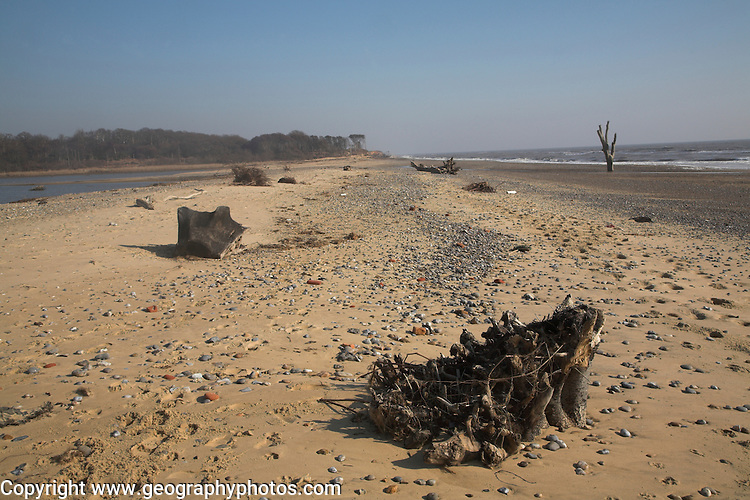 Benacre Broad and beach, national nature, reserve, Suffolk, England