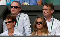 Judy Murray & Kim Sears watching Andy Murray (GBR) (4) against Jo-Wilfred Tsonga (FRA) (10) in the Quarter Finals of the gentlemen's singles. Andy Murray beat Jo-Wilfred Tsonga 6-7 7-6 6-2 6-2 ..Tennis - Wimbledon Lawn Tennis Championships - Day 9 Wed 30 Jun 2010 -  All England Lawn Tennis and Croquet Club - Wimbledon - London - England..© FREY - AMN IMAGES  Level 1, Barry House, 20-22 Worple Road, London, SW19 4DH.TEL - +44 (0) 20 8947 0100.Email - mfrey@advantagemedianet.com.www.advantagemedianet.com