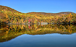 Reflections of autumn colors in the Cold Spring Reservoir, Cold Spring, NY