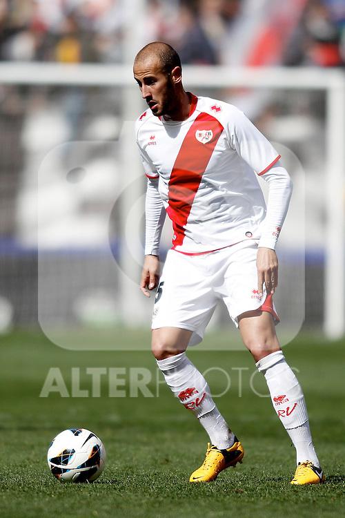 Rayo Vallecano's Alejandro Arribas  during La Liga  match. February 24,2013.(ALTERPHOTOS/Alconada)