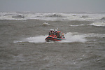 Four crew members of the Drogheda Unit of the Irish Coast Guard, out on exercise in heavy weather handeling  at the mouth of the river boyne..DOIC Andy O'Brien, Paul O'Neill, Jim Dowling an dStephen Geraghty..Picture Fran Caffrey/newsfile.ie..