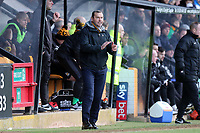 Cambridge United manager Colin Calderwood during Cambridge United vs Port Vale, Sky Bet EFL League 2 Football at the Cambs Glass Stadium on 9th February 2019