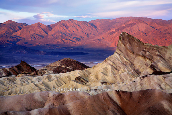 First Light Of Dawn At Zabriskie Point, Death Valley National Park, California