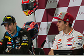 17th March 2018, Losail International Circuit, Lusail, Qatar; Qatar Motorcycle Grand Prix, Saturday qualifying; Alex and Marc Marquez at the post qualifying press conference