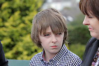 Pictured: Jack, the brother of tragic teen Rebecca Aylward outside Swansea Crown Court. Friday 02 September 2011<br />
