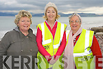 Nuala O'Connor, Mary O'Sullivan and Nuala Spillane, at the Hospice walk in Rossbeigh on Friday.