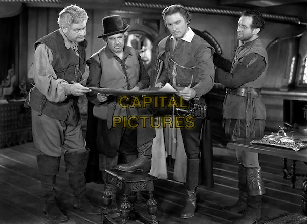 Errol Flynn With Alan Hale, Sr. (Far L).in The Sea Hawk.*Filmstill - Editorial Use Only*.CAP/PLF.Supplied by Capital Pictures.