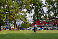 Wide view of Dustin Johnson (USA) looking over his birdie putt on 18 during round 4 of the World Golf Championships, Mexico, Club De Golf Chapultepec, Mexico City, Mexico. 2/24/2019.<br /> Picture: Golffile | Ken Murray<br /> <br /> <br /> All photo usage must carry mandatory copyright credit (© Golffile | Ken Murray)