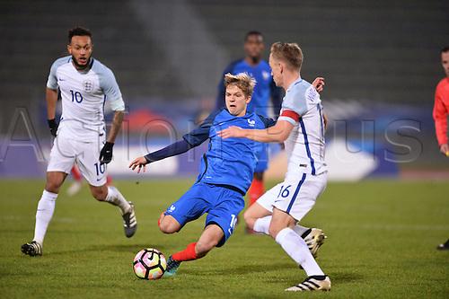 14.11.2016. bondoufle, Paris, France. U-21 International friendly football match, France versus England.  Vincent Koziello (fra)