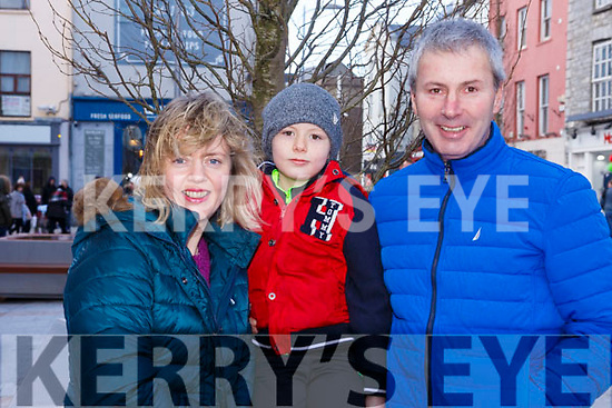 Enjoying the family fun day at the  Kerry County Council and Tralee Chamber Alliance will Street Party and Family Fun Day in The Mall on Saturday last are the Hanagin family from the Kerries, Tralee, l to r,  Jean, Conor and John Hanafin.