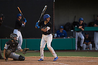 Sandra Day O'Connor Eagles shortstop Jayce Easley (3) at bat during a game against Mountain Ridge High School at Brazell Field at GCU on April 19, 2018 in Glendale, Arizona. Mountain Ridge defeated Sandra Day O'Connor 2-1. (Zachary Lucy/Four Seam Images)