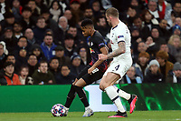 Christopher Nkunku of RB Leipzig  and Toby Alderweireld of Tottenham Hotspur during Tottenham Hotspur vs RB Leipzig, UEFA Champions League Football at Tottenham Hotspur Stadium on 19th February 2020