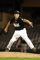 Pitcher Brad Labozzetta (16) of Lakeland High School participates in the Team One Futures Game East at Roger Dean Stadium in Jupiter, Florida September 25, 2010..  Photo By Mike Janes/Four Seam Images