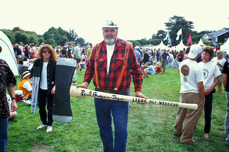 Man at Paul Bunyan Day Parade, Fort Bragg California