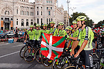 Euskadi-Murias best team at the end of the final Stage 21 of the La Vuelta 2018, running 100.9km for Alcorcon to Madrid, Spain. 16th September 2018.                   <br /> Picture: Unipublic/Photogomezsport | Cyclefile<br /> <br /> <br /> All photos usage must carry mandatory copyright credit (© Cyclefile | Unipublic/Photogomezsport)