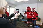 The New Jersey Devil's Mascot NJ visits Monmouth Medical Center Southern Campus