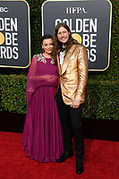 Serena McKinney and Golden Globe nominee Ludwig Goransson attends the 76th Annual Golden Globe Awards at the Beverly Hilton in Beverly Hills, CA on Sunday, January 6, 2019.<br /> *Editorial Use Only*<br /> CAP/PLF/HFPA<br /> Image supplied by Capital Pictures