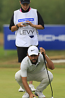 Alexander Levy (FRA) on the 12th green during Saturday's Round 3 of the Porsche European Open 2018 held at Green Eagle Golf Courses, Hamburg Germany. 28th July 2018.<br /> Picture: Eoin Clarke | Golffile<br /> <br /> <br /> All photos usage must carry mandatory copyright credit (&copy; Golffile | Eoin Clarke)