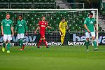 1:3 Leverkusen Enttaeuschung bei den Spielern von Werder<br /> Jiri Pavlenka (Werder Bremen #01)<br /> <br /> <br /> Sport: Fussball: 1. Bundesliga: Saison 19/20: <br /> 26. Spieltag: SV Werder Bremen vs Bayer 04 Leverkusen, 18.05.2020<br /> <br /> Foto ©  gumzmedia / Nordphoto / Andreas Gumz / POOL <br /> <br /> Nur für journalistische Zwecke! Only for editorial use!<br />  DFL regulations prohibit any use of photographs as image sequences and/or quasi-video.