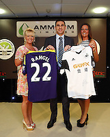 Wednesday 07 May 2014<br /> Pictured: Angel Rangel with sponsors<br /> Re: Swansea City's annual awards dinner the Liberty Stadium, Swansea, south Wales.