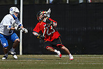 2013 March 02: Brendan Saylor #23 of the Maryland Terrapins during a game against the Duke Blue Devils at Koskinen Stadium in Durham, NC.  Maryland won 16-7.
