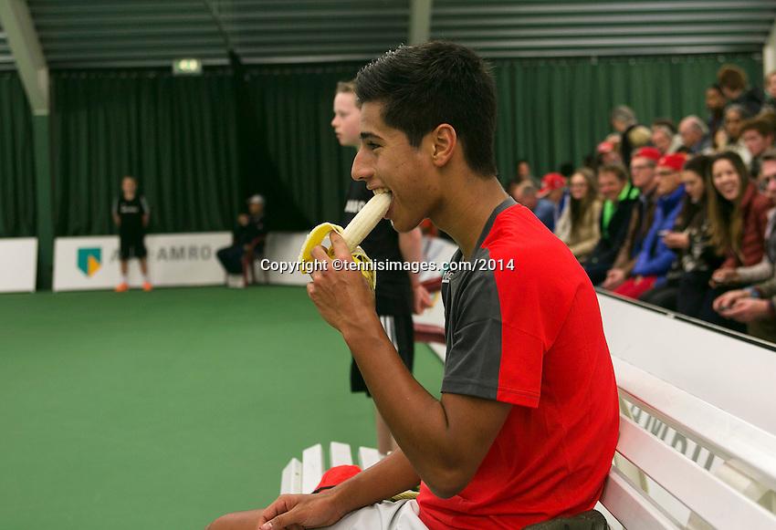 19-01-14,Netherlands, Rotterdam,  TC Victoria, Wildcard Tournament, ,   Final,     Fabian van der Lans (NED)<br /> Photo: Henk Koster