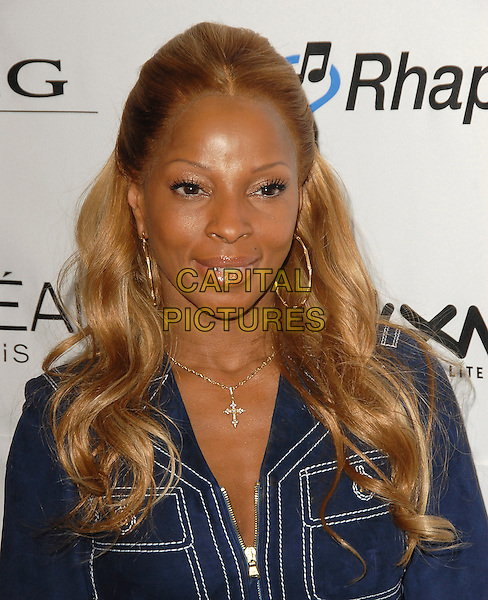 MARY J. BLIGE.At The Annual Clive Davis Pre-Grammy Extravaganza held at The Beverly Hilton Hotel in Beverly Hills, California, USA, February 7, 2006..portrait headshot gold hoop earrings cross diamond necklace.Ref: DVS.www.capitalpictures.com.sales@capitalpictures.com.©Debbie Van Story/Capital Pictures